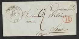 1842 - LSC - MONTEREAU Type 14 ( Sans An ! ) - Boite Rural R - 1déc Taxe - Marcophilie (Lettres)