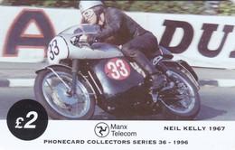 Isle Of Man, MAN 109, TT Racers 1996, Neil Kelly, 2 Scans .  Mint ? - Isla De Man