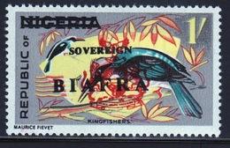 Biafra 1968 1s Definitive Stamp Of Nigeria Overprinted 'Sovereign Biafra'. - Nigeria (1961-...)