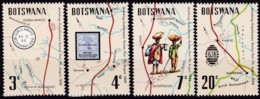 Bodswana,, 1972, 88/91. Botenpost Mafeking-Gubulawayo. MNH ** - Botswana (1966-...)