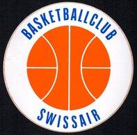 PALLACANESTRO - SVIZZERA  - ADESIVO / AUTOCOLLANT BASKETBALL CLUB SWISSAIR - Adesivi