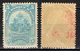 HAITI - 1899 -  STEMMA DI HAITI - MH - Haiti
