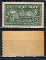 HAITI - 1944 -  PRO VITTIME DELLA SECONDA GUERRA MONDIALE - MNH - Haiti