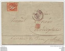048. LETTRE N°48 - DESTINATION BORDIGHERA - 1871 - 1849-1876: Période Classique