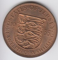 Jersey Coin George V One Twelth Of A Shilling 1/12 - Dated 1935 - Jersey