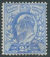 1902-10 GREAT BRITAIN USED SG 231 2 1/2d PALE ULTRAMARINE - F22 - 1902-1951 (Re)