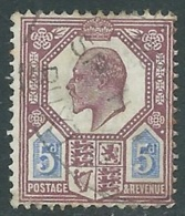 1902-10 GREAT BRITAIN USED SG 242 5d DULL PUR & ULTRAMARINE - F22 - 1902-1951 (Re)