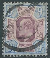 1902-10 GREAT BRITAIN USED SG 250 9d DULL PURPLE & ULTRAMARINE - F22-2 - 1902-1951 (Re)