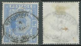 1902-10 GREAT BRITAIN USED SG 265 10s ULTRAMARINE - F21-10 - 1902-1951 (Re)