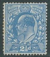 1911 GREAT BRITAIN USED SG 283 2 1/2d BRIGHT BLUE - F22-3 - Usati