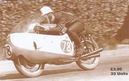 Isle Of Man, MAN 119, TT Racers 1997, Bob McIntyre, 2 Scans .  Mint, Card Number 0555 - Isle Of Man