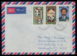 ETHIOPIE - ETHIOPIA - ADDIS ABABA / 1976 LETTRE AVION POUR LES USA  (ref LE3187) - Ethiopie