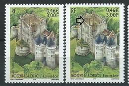[28] Variété : N° 3386 Nogent Le Rotrou Bistre-jaune Au Lieu De Bistre-brun + Normal ** - Variétés Et Curiosités