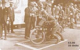 Isle Of Man, MAN 120, TT Racers 1997, Howard R. Davies 1921 Winner, 2 Scans .  Mint, Card Number 0555 - Isla De Man