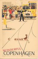 Wonderful COPENHAGEN KOBENHAVN COPENHAGUE - Tram - Tramway - Policier - Policeman - Illustrateur Hans Knudsen - Danemark