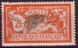 1907 - Type MERSON - 2 F. Orange Et Vert-bleu - N° 145* - France