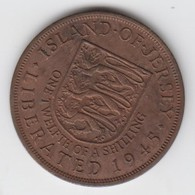 Jersey Coin George V1 One Twelth Of A Shilling 1/12 - Dated 1945 - Jersey