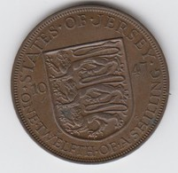 Jersey Coin George V1 One Twelth Of A Shilling 1/12 - Dated 1947 - Jersey