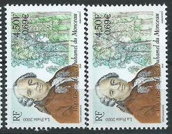 [28] Variété : N° 3328 Duhamel Du Monceau Vert Très Pâl5 + Normal ** - Variétés Et Curiosités