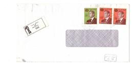 Maroc. 3 Timbres N° 940 Et 1251D  Sur Lettre Recommandée. Série Courante 1982 Et 1999. - Morocco (1956-...)