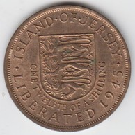 Jersey Coin QE11 One Twelth Of A Shilling 1/12 - Dated 1945 - Jersey