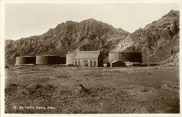 Yemen, MAALA, Aden, Oil Tanks (1930s) RPPC - Yemen