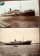 2 Photographies Originales Paquebot  LE PLATA Sté Gle Des Transports Maritimes à Vapeur, Marseille, Dakar, Brésil Plata - Bateaux
