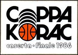PALLACANESTRO - ITALIA 1986  - ADESIVO / AUTOCOLLANT FINALE COPPA KORAC - BASKETBALL - Adesivi