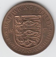Jersey Coin QE11 One Twelth Of A Shilling 1/12 - Dated 1957 - Jersey
