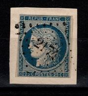 YV 4 Oblitere PC 2174 De Mortrée , 4 Marges (filet Nord Ouest) , Frappe Plein Centre , Sur Fragment - 1849-1850 Cérès
