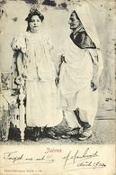 Tunisia, Jewish Young Girl And Old Woman, Juives JUDAICA (1904) Postcard - Jewish