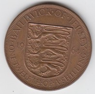 Jersey Coin QE11 One Twelth Of A Shilling 1/12 - Dated 1964 - Jersey