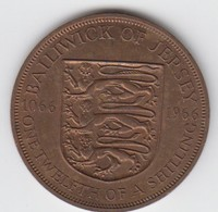 Jersey Coin QE11 One Twelth Of A Shilling 1/12 - Dated 1966 - Jersey