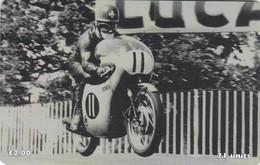 Isle Of Man, MAN 129, TT Racers 1998, Luigi Taveri, 2 Scans .  Mint, Card Number 0145 - Isla De Man