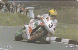Isle Of Man, MAN 130, TT Racers 1998, Dunlop, 2 Scans .  Mint, Card Number 0145 - Isla De Man