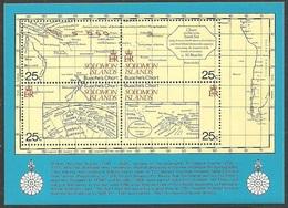SOLOMON ISLANDS 1981 MAURELLE'S VISIT SHIPS MAPS & CHARTS M/SHEET MNH - Solomon Islands (1978-...)