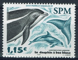 Saint Pierre And Miquelon, White-beaked Dolphin (Lagenorhyncus Albirostris), 2005, MNH VF - Unused Stamps