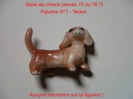 Kinder 1985 RARE : Les Chiens : N°7  Le Teckel - Kinder & Diddl