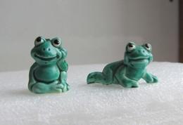 Kinder 1986 RARE : Les Happy Frogs : La Tortue Assise Et La Tortue Allongée - Kinder & Diddl