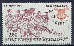 "Saint Pierre And Miquelon, Orchestra, ""La Lyre"", 1991, MNH VF - Unused Stamps"