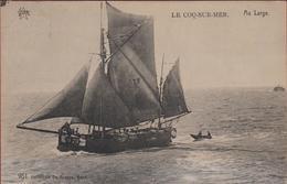 De Haan Aan Zee Coq Sur Mer Au Large Visserij Pecheurs Fishermen (In Goede Staat) Boat Vissersboot - De Haan