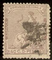 España Edifil 136 (º)  40 Céntimos Castaño  Corona Y Alegoría  1873  NL1557 - 1872-73 Reino: Amadeo I