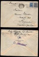 URUGUAY - MONTEVIDEO - SS MINDEN - LLOYD / 1938 LETTRE PAR PAQUEBOT POUR L'ALLEMAGNE  (ref LE3197) - Uruguay