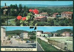 CARTOLINA - CV1346 REFRONTOLO (Treviso TV) Saluti Da, Con 3 Vedutine, FG, Viaggiata 1975, Ottime Condizioni - Treviso