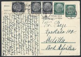 40de.Postcard. Post 1936 Year. Halle ( Deutsches  Reich) Melilla (Spain, North Africa).Advertising Stamp - Germany
