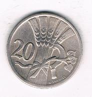 20 HALLER 1928  TSJECHOSLOWAKIJE /1099/ - Tchécoslovaquie
