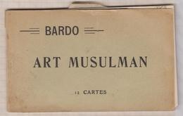 9AL264  CARNET TUNISIE BARDO Art Musulman 2 SCANS - Tunisie