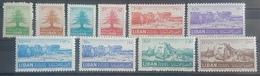E11KB - Lebanon 1952 Baalbeck & Chateau Beaufort Complete Set MNH - Lebanon