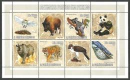 ST THOMAS AND PRINCE 2006 WILDLIFE BIRDS OWL WHALE KOALA PANDA M/SHEET MNH - Sao Tome And Principe