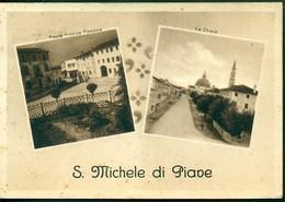 CARTOLINA - CV2041 S. MICHELE DI PIAVE (Treviso TV) Bella Cartolina Con Due Vedutine, FG, Viaggiata 1950, - Treviso